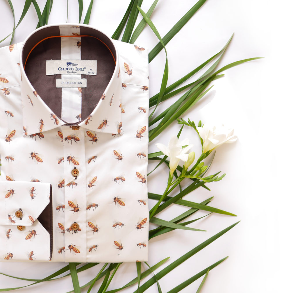 Image showing a shirt printed with bees