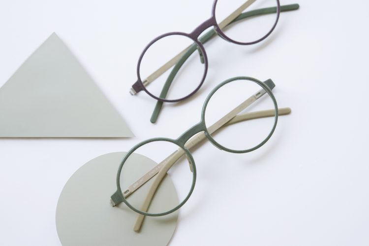 Two pairs of glasses are shown